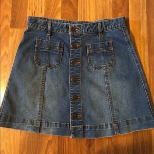 American Rag Denim Jean button up Skirt